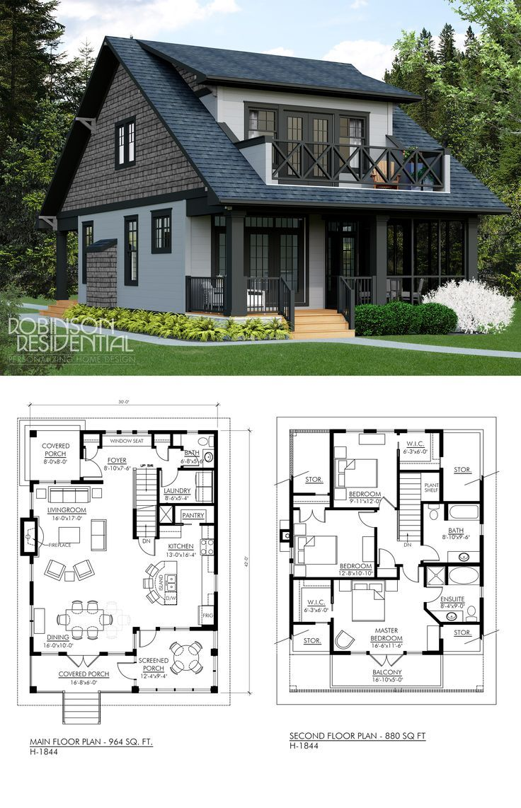 Craftsman H 1844 House Plans Dream House Plans Floor Plans