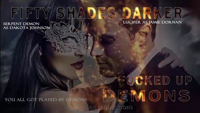 Fifty Shades of Dark Demons world exclusive. This is a world exclusive. Through forensics we are showing you what was really happening in Fifty Shades Darker. Our team of people specialize in forensics, this is our work. You thought you were watching humans, you were in fact watching demons.  These demons morph before your very eyes, and we are going to show you this.  Lucifer AKA Jamie Dornan, because he is not human, video proof.  Serpent demon, AKA Dakota Johnson is not human, video…
