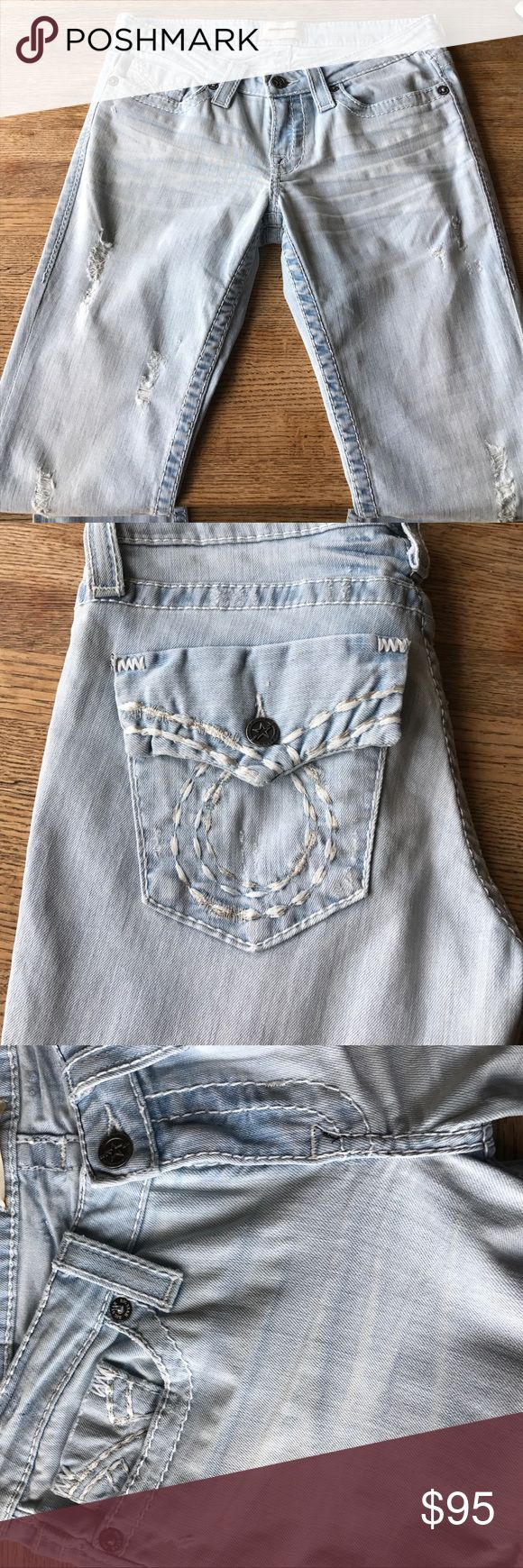 """New Big Star Liv boot factory distressed 27R 5/6 New without tags, never worn Big Star Liv boot jeans. With stretch. Size 27R (5/6 converted.) regular length. Factory distressed, holes, etc...15"""" across top of waist. Big Star Jeans Boot Cut"""