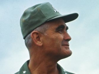 President Lyndon Johnson chose William Westmoreland, a distinguished veteran of World War II and the Korean War, to command the U.S. Military Assistance Command in Vietnam (MACV) in June 1964. Over the next four years, the general directed much of U.S. military strategy during the Vietnam War, spearheading the buildup of American troops in the region from 16,000 to more than 500,000. His strategy of attrition aimed to inflict heavy losses on North Vietnamese and Viet Cong forces using…