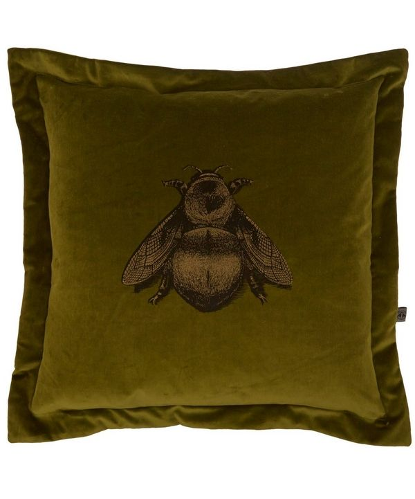 Napoleon Bee velvet cushion from the Timorous Beasties collection.