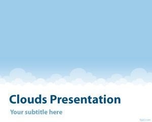 Clouds PowerPoint Template PPT Template