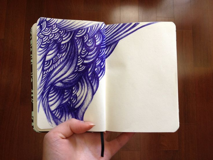 I love to doodle on the bus, and throughout the day. This is the first one I've done in this sketchbook.
