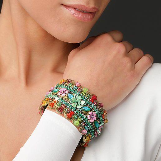 Yaron Morhaim Blüten-Armband Jetzt ein Trend-Thema: Blüten-Schmuck im viktorianischen Stil. Handgefertigt von Yaron Morhaim, London.
