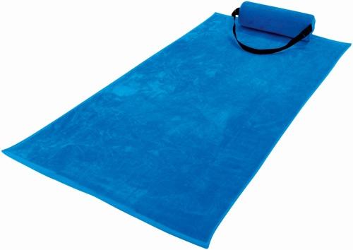 telo da mare con cuscino incorporato per stare comodi anche sulla sabbia.