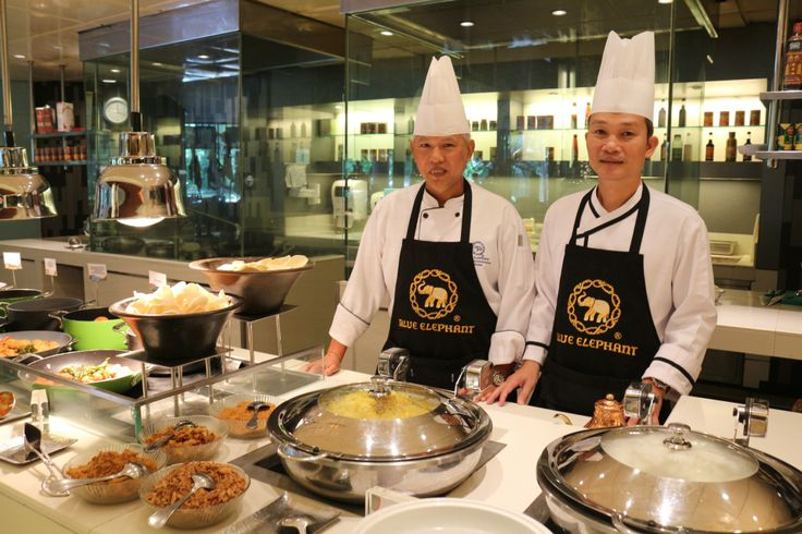 Corporate Chef Sombat Prongthong from Thailand, accompanied by Chef Prasert Chimwan from Blue Elephant Cooking School & Restaurant