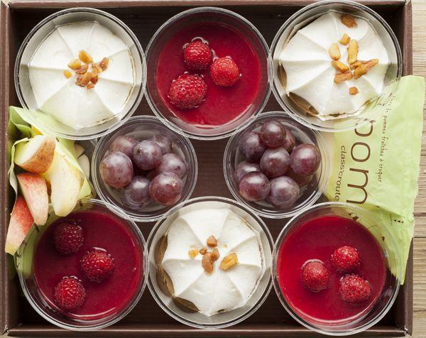 CUP CREAM 10 desserts et fruits pour 6 persibbes - 3 panna cotta - 2 mousses au chocolat - 2 cups fruits - 2 sachets de pommes croquantes