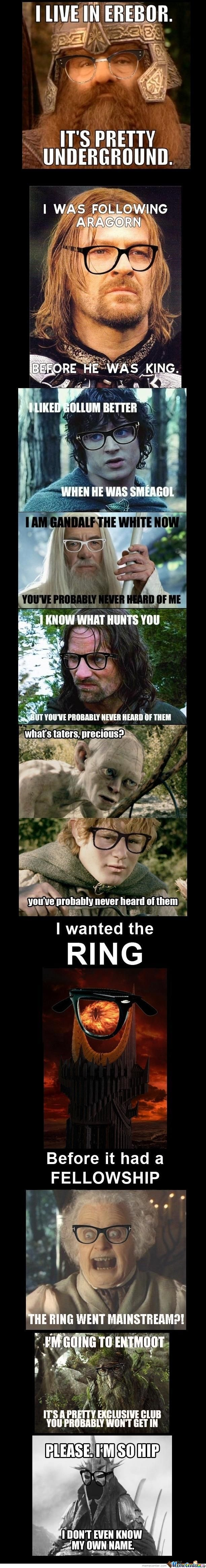 Hipster Lord of the Rings....BAHAHAHA