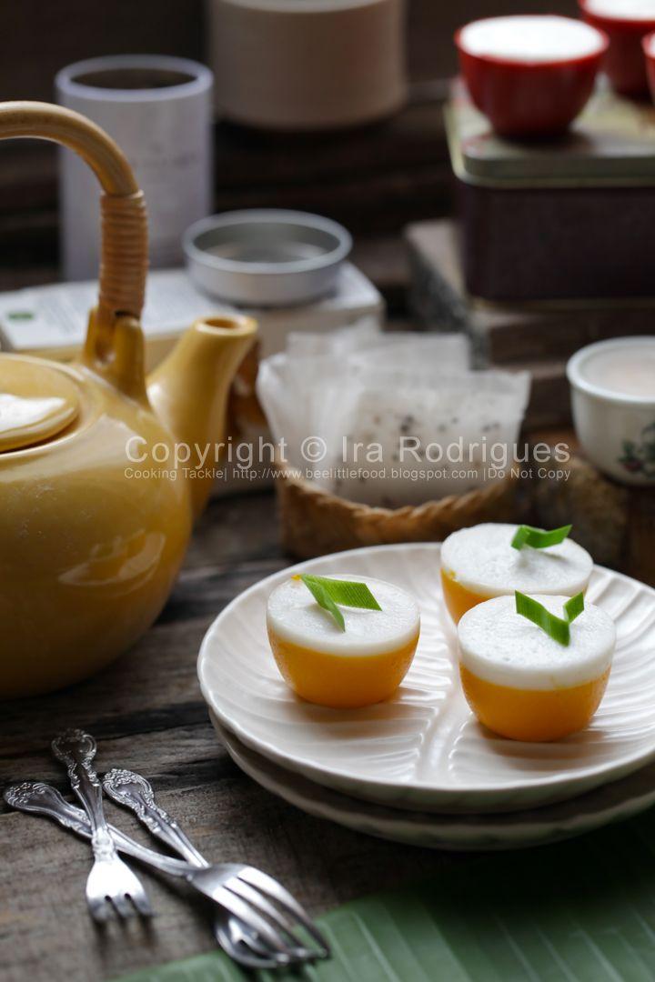 CookingTackle: Steamed pumpkin cake with coconut milk, Kue talam labu kuning