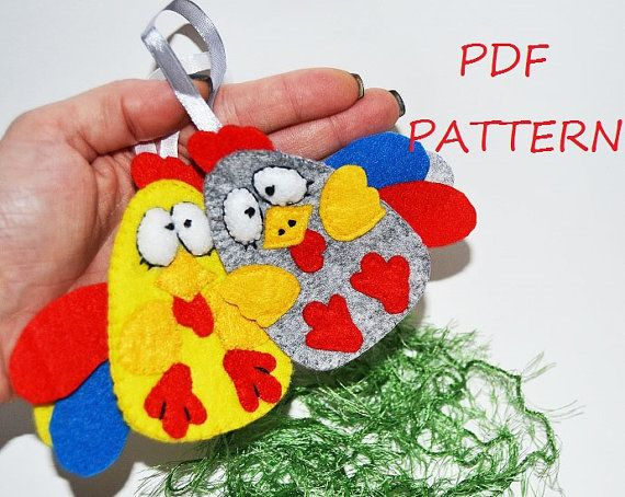Christmas Easter rooster PDF file Pattern DIY by SimonsCatShop