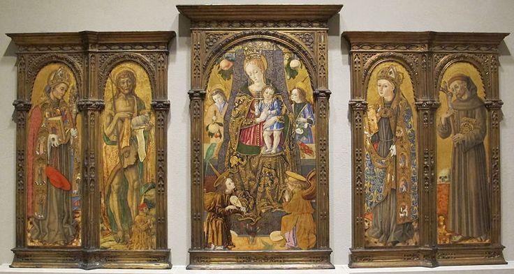 Vittore Crivelli, Madonna col bambino e santi francescani, 1481