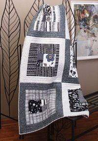 Urban Spaces: Easy Scrap Quilt-classy and fun! I want to use my