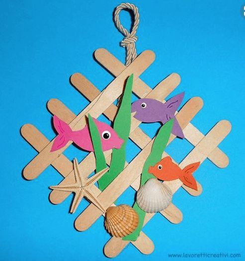 Hoe werkt #Vissen knutselen met ijslollystokjes?