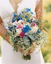 Beautiful wildflower wedding bouquet