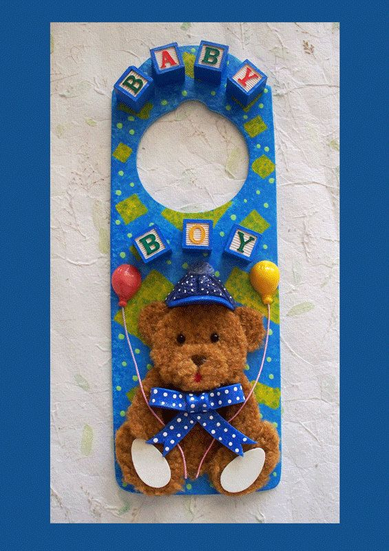 Baby Boy Door Hanger by RFColorfulCreations on Etsy, $8.00