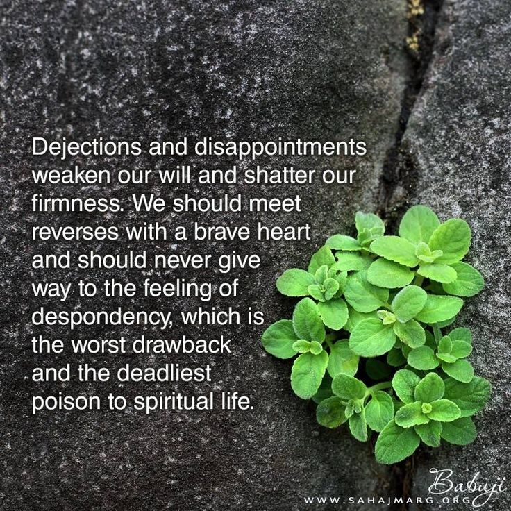 #Dejections and #disappointments weaken our will and shatter our firmness. We should meet reverses with a #brave #heart and should never give way to the feeling of despondency, which is the worst drawback and the deadliest poison to spiritual life.  — Babuji Maharaj    • https://sahajmarg.org/    #SahajMarg #KnowbyHeart   #Meditation #Vibes #srcm #Yoga