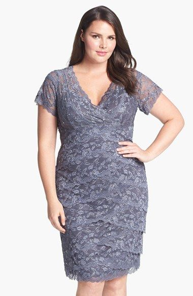 Marina Tiered Lace Dress (Plus Size) available at #Nordstrom
