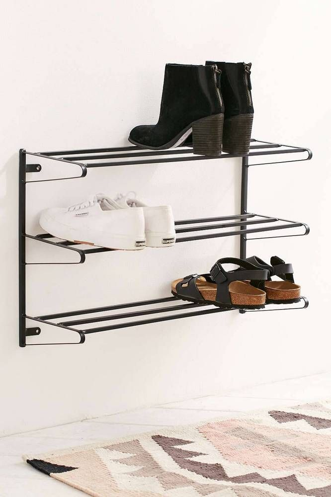 1000 ideas about wall mounted shoe rack on pinterest. Black Bedroom Furniture Sets. Home Design Ideas