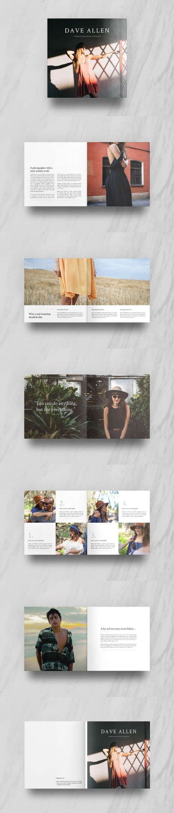 Square Brochure Template. Brochure Templates. $19.00
