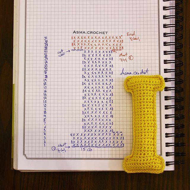 . . عندما تريدالإبتعاد عن إدمان شيء ما فإنَّ أول ماتواجهه هوالتَّفكير به في أوقات الفراغ! فإن قتلت الفراغ انتَصرت. . #كروشيه #crochet #حروف #letters_crochet