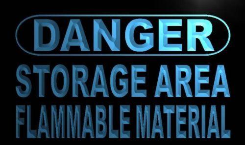 Danger Storage Area Neon Light Sign