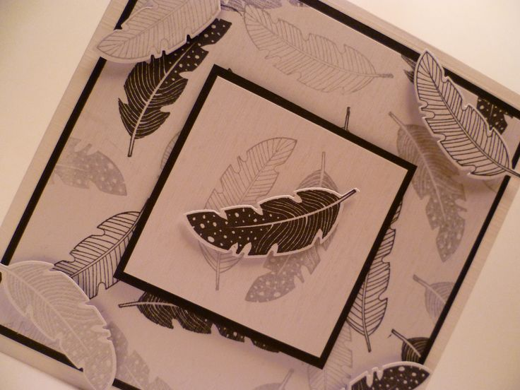 Made with the featherstamps and dies from Stampin' Up.
