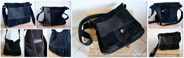 Alltagseintopf: Kleine, coole, schwarze Messenger Bag