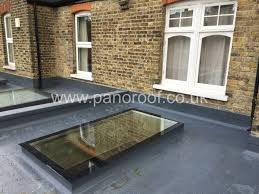 Image result for flat roof with skylights