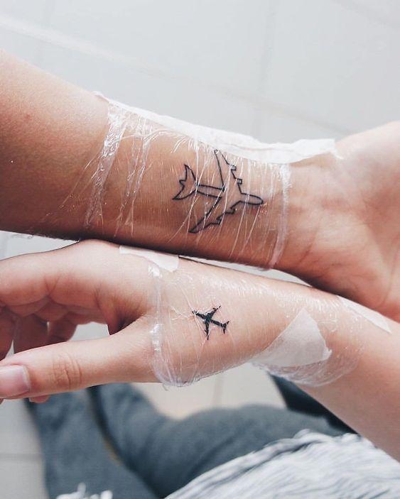 Meer / Strand / Muschel Tattoo   – Anker