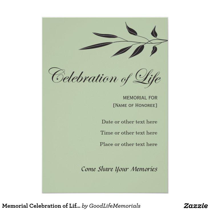 10 best jeff images on pinterest birthdays celebrations and memorial celebration of life elegant tree branch 5x7 paper invitation card stopboris Choice Image