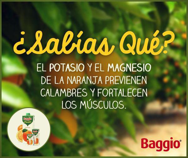 Además de ser muy sabrosas, las frutas tienen otros beneficios. #BaggioJugos #BaggioSabiasQue