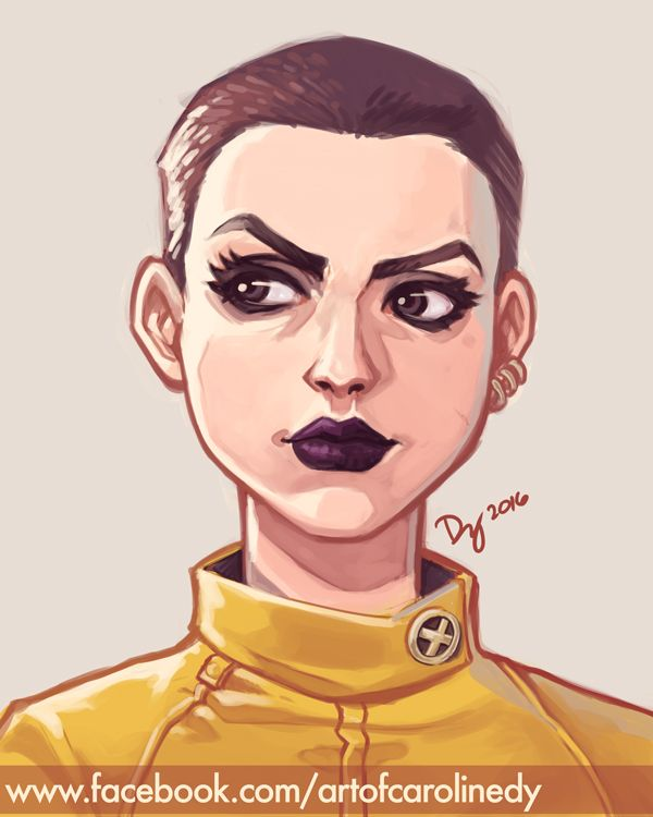 Painting Practice: Negasonic Teenage Warhead by vitamindy on DeviantArt