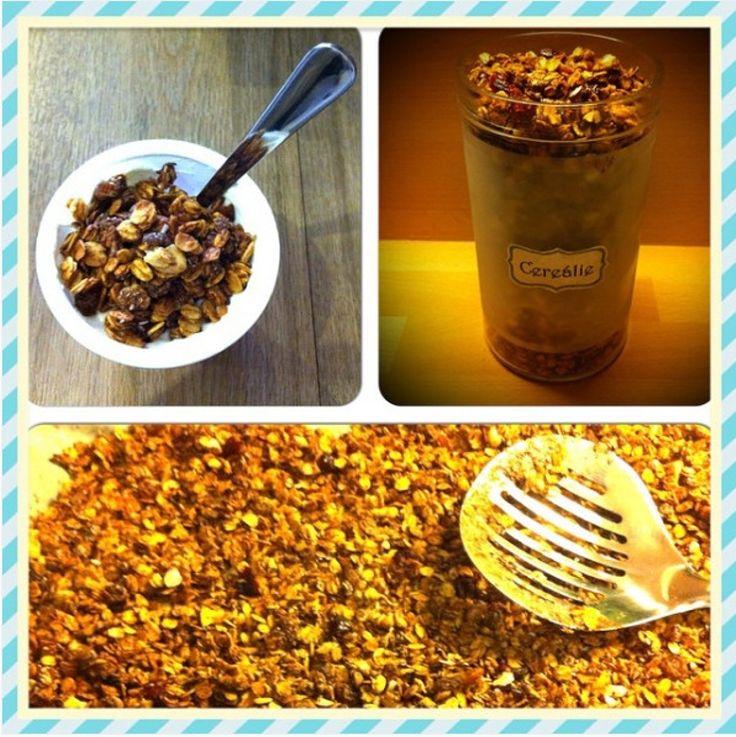 "Recept na domáce zapekané müsli, nazývané aj ""Granola"""