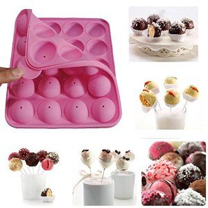 Amazon.com: Rbenxia Silicone Cake Mold 20-cavity Half Circle Lollipop Party Cupcake Baking Mold Cake Pop Stick Mold Tray Pink: Cake Pop Maker: Kitchen & Dining