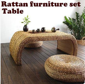 100% натуральный ротанг продукты, сад из чистых ручной работы мебель комплект, стол из ротанга, из ротанга стул, мебель для гостиной ( 1 + 2 )