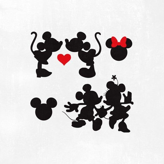 Download Mickey mouse minnie mouse svg love kissing heart Mickey ...