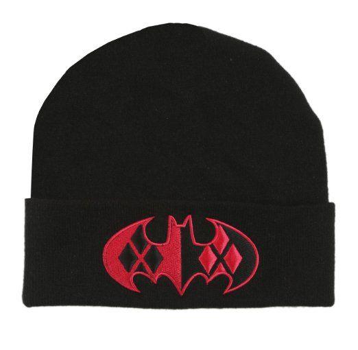 DC Comics Harley Quinn Bat Logo Cuff Beanie Hat
