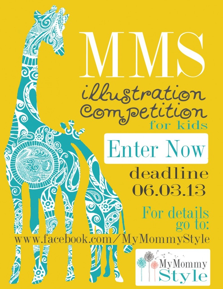 Illustration Competition for kids {  $50 giveaway!!}