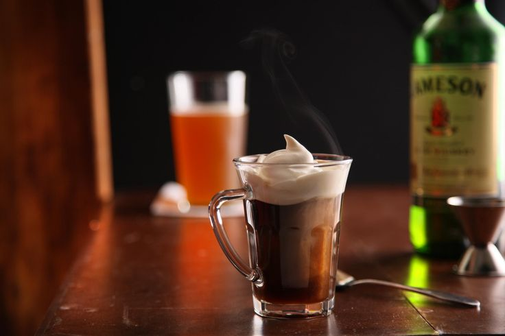 This Irish coffee recipe, a blend of whiskey, coffee, cream, and sugar, was created in Ireland and popularized at the Buena Vista Cafe in San Francisco.