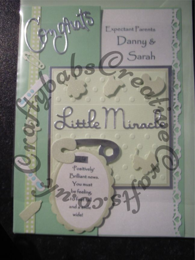 Handmade Baby Shower Card, Made Using A Selection Of Dies Including  Cuttlebug Sentiments U0026 Embossing