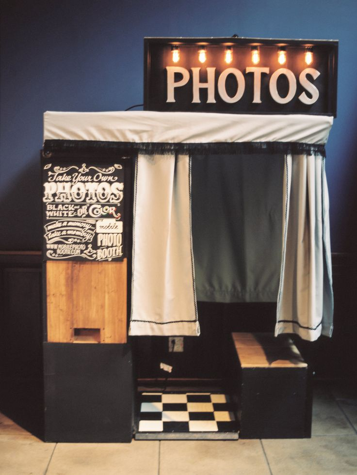 """Marvimon House, Los Angeles.  Brian & Alicia tied the knot & this was their chioice for photo booth- our """"classic booth"""" by Mobile Photo Booth.  Photo by Ashley Kelemen @ashleykelemenphotography  http://www.mobilephotobooth.com #photobooth #chalkboard #handlettering #custom #handbuilt #wedding #marvimonhouse"""