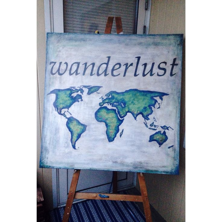 ..a strong desire for or impulse to wander or travel and explore the world. #wanderlust #chalkpaint #anniesloanchalkpaint #artbyafo