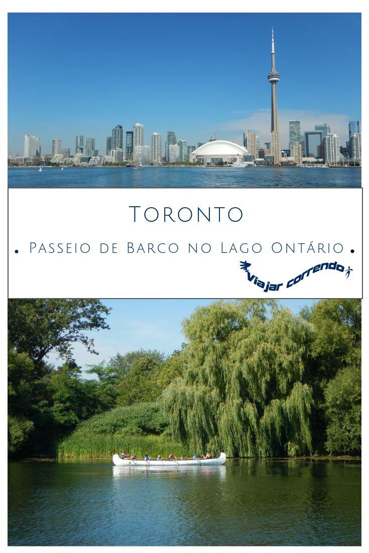 Passeio de barco no Lago Ontario. O barco navega ao redor de Toronto Islands e é possível observar o skyline de Toronto. A melhor visão do skyline de Toronto pode ser observada a partir das Toronto Islands. Além disso, passa pertinho do aeroporto Billy Bishop.