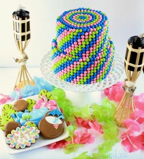 Torta di caramelle colorate