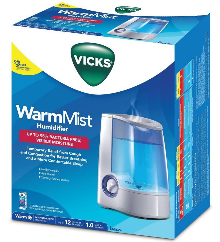 Vicks Warm Mist Humidifier $48.90 | Warm mist humidifier