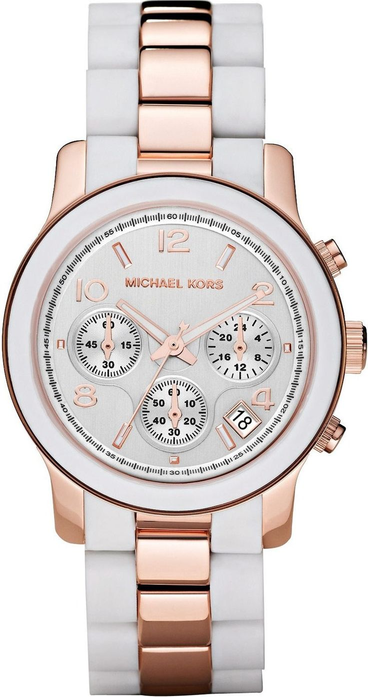 Michael Kors Watch , Michael Kors Women\u0027s MK5464 Runway White Watch ...$243.00