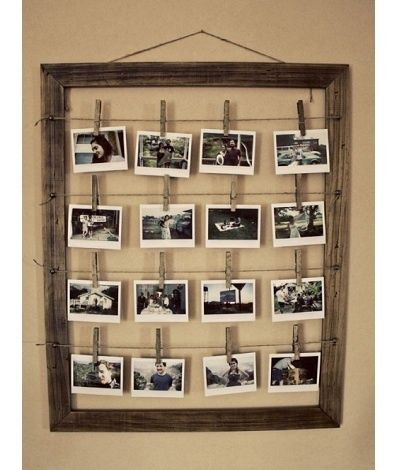 DIY picture frames. Fun family picture wall idea.