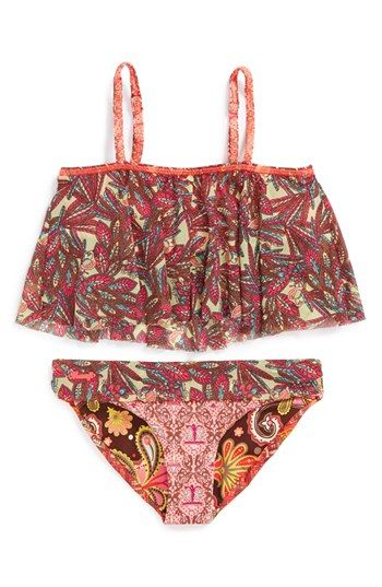 Maaji 'Sparkling Waves' Two-Piece Swimsuit (Big Girls)(Online Only) available at #Nordstrom Definitely NEED for Gi's suit collection !!
