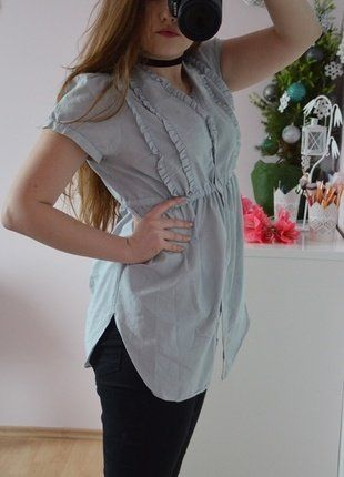 Kup mój przedmiot na #vintedpl http://www.vinted.pl/damska-odziez/koszule/16647827-blekitna-koszula-miss-selfridge-tumblr-insta