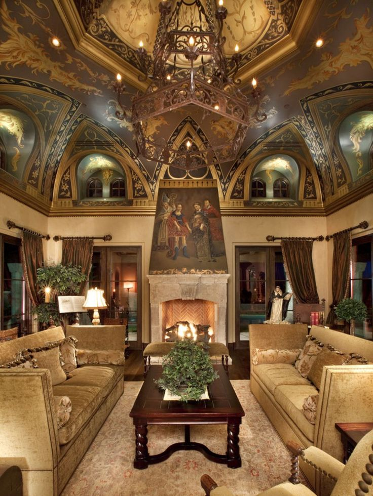 Luxury Ceiling For Old World Living Room ᘡղbᘠ | Elegant ...